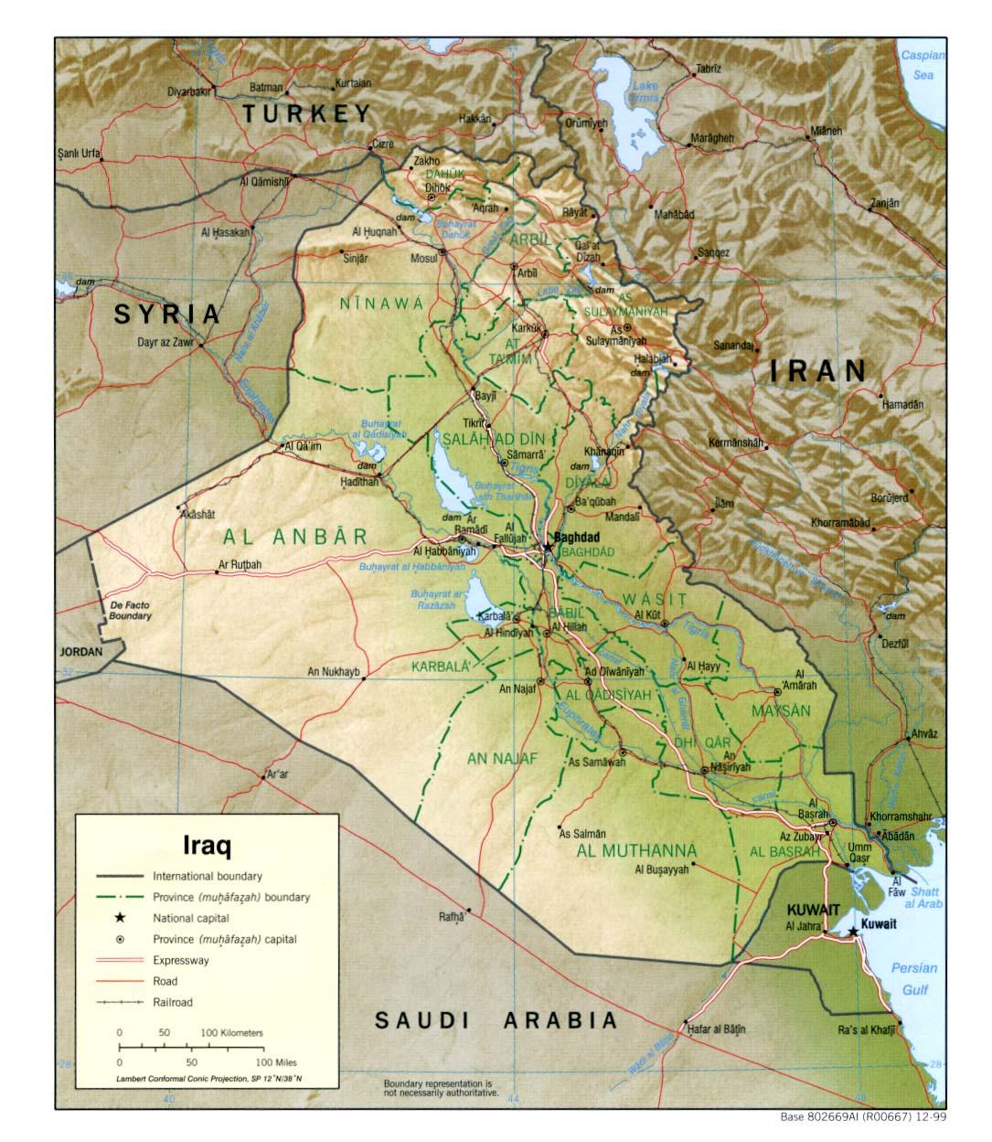 Iraq Map 1999